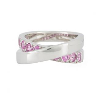 Cartier Sapphire & Diamond Cross Ring