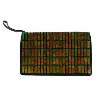 Stella McCartney Green Holographic Embellished Clutch