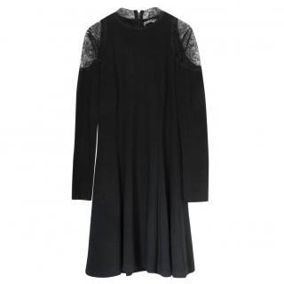 Alice & Olivia Lace Paneled Jersey Dress