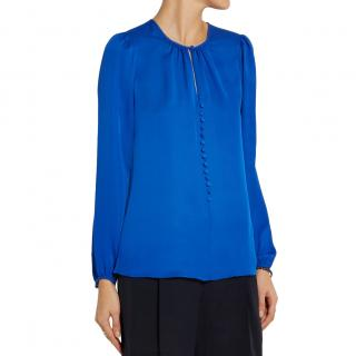 Michael Michael Kors Blue Silk Crepe Blouse