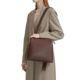 Osoi Chocolate Brown Leather Brot Crossbody Bag