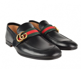 GUCCI Donnie Snaffle Web Loafers
