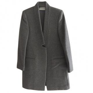 Stella McCartney Grey Tailored Wool Coat