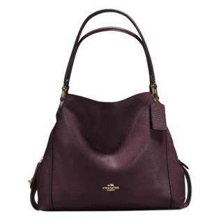 Coach Edie Oxblood Double Strap Tote