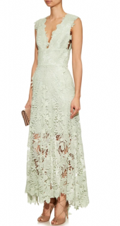 Maria Lucia Hohan Mint Green Caspia guipure-lace dress