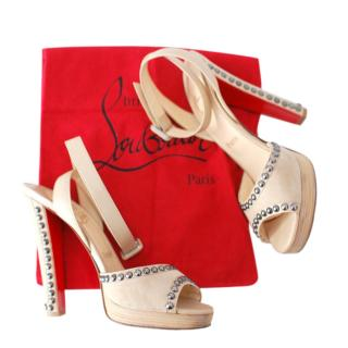 Christian Louboutin Suede Studded Sandals
