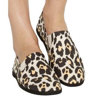 Stella McCartney Noemi leopard-print canvas slip-on sneakers