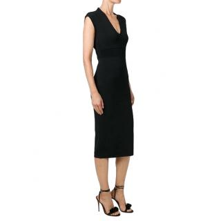 Michael Michael Kors Ribbed Knit Midi Dress