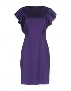 Alberta Ferretti Purple Satin Classic Dress