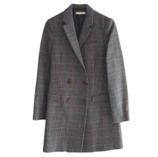 Balenciaga Grey Wool Longline Tailored Coat