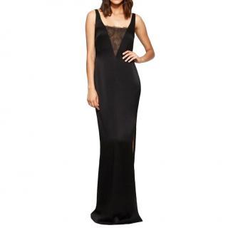 Rachel Zoe Black Lace Detailed Sleeveless Gown