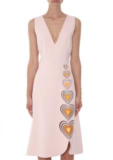 Christopher Kane Nude Heart Cut-Out Sleeveless Dress