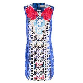 Peter Pilotto Silk Patterned Embellished Dress