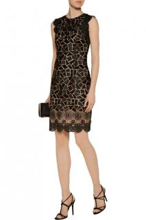 Miikael Aghal Giupere Lace Cut-Out Dress