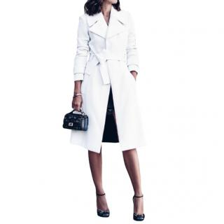 A.L.C Richard Belted Textured Coat in White