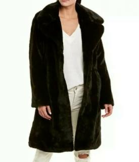 Badgley Mischka Faux Fur Bunny Coat
