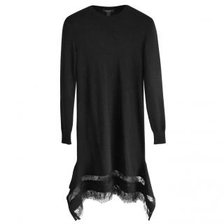 Louis Vuitton stretch black wool dress