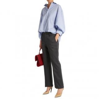 Balenciaga Kick-flare stretch wool trousers