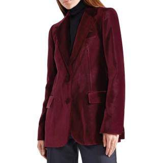 Stella McCartney Red Velvet Tailored Jacket