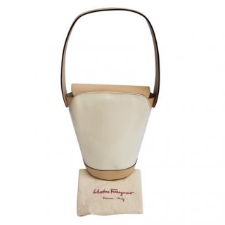 Ferragamo Beige/Cream Vintage Bucket Bag