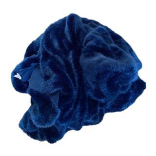 Bespoke XL Faux Fur Blue Blanket