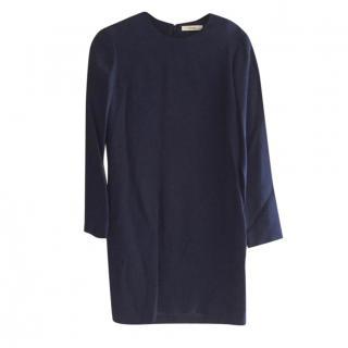 Celine Navy Long Sleeve Shift Dress