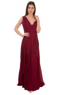 Roland Mouret Burgundy One Shoulder Limited Edition Gown