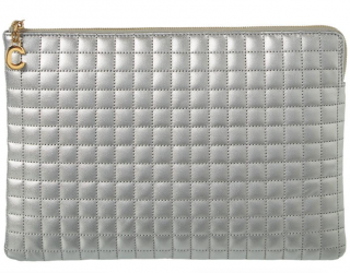 Celine Metallic Quilted Leather Pouch