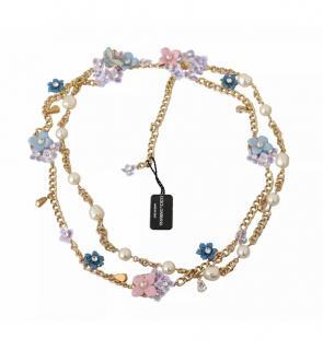 Dolce & Gabbana Crystal Embellished Floral Necklace