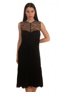 Roberto Cavalli Black Lace Panelled Dress