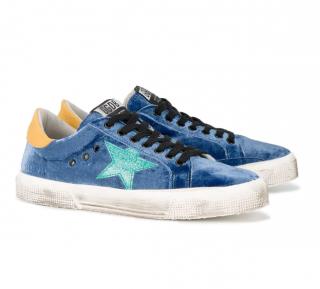 Golden Goose Blue Velvet May Sneakers