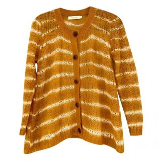 Rabans Saloner Gold Tekla Mohair Stripe Cardigan