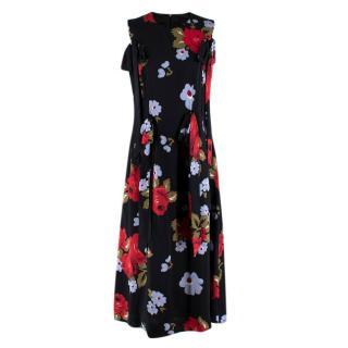Simone Rocha Black Multi-coloured Floral Pattern Dress