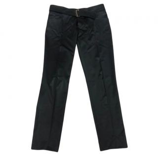 Gucci Black Wool Blend Crop Pants