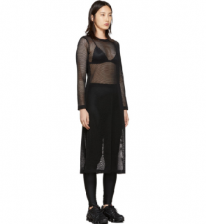 Comme Des Garcons Black Mesh Dress In 1 Black