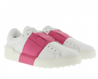 Valentino Bicolor Rockstud New Open Leather Sneaker