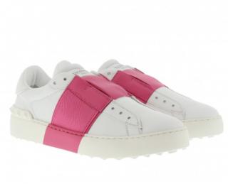 Valentino Bicolor Rockstud New Open Leather Sneaker