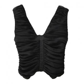 Valentino Ruched Silk Corset Top