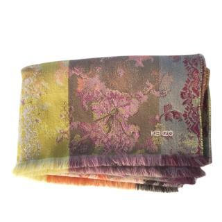 Kenzo Wool & Silk Colourblock Scarf