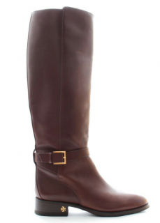 Tory Burch Brooke Brown Leather Knee Riding Boots