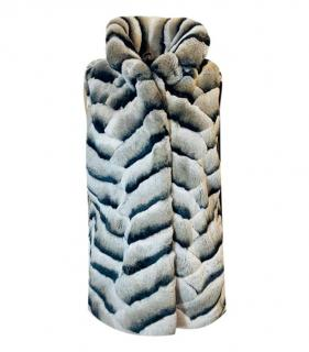 Bespoke Rabbit Fur Grey/Black Gilet