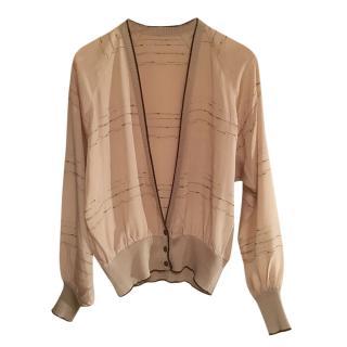 Brioni Vintage Silk Cardigan.