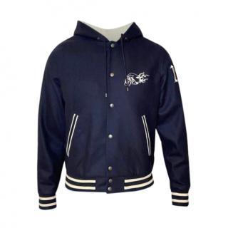The Kooples Hooded Navy Wool Jacket