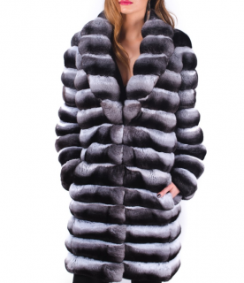 FurbySD Natural Chinchilla Fur Coat