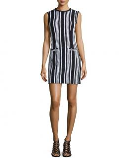 Carven striped sleeveless shift dress