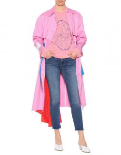 Acne Studios Pink Oslavi E Crayfish Cotton Sweatshirt