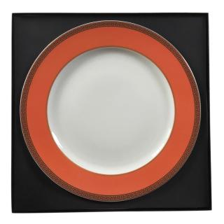Versace by Rosenthal Orange/White Ikarus Porcelain Server Plate