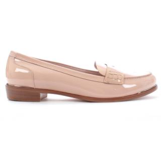 Miu MIu Blush Patent Leather Loafers