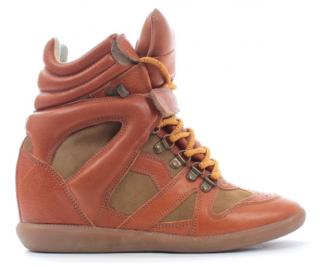 Isabel Marant Bekket Lace-Up Wedge Sneakers