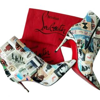 Christian Louboutin Collage Print Parent So Kate Ankle Boots